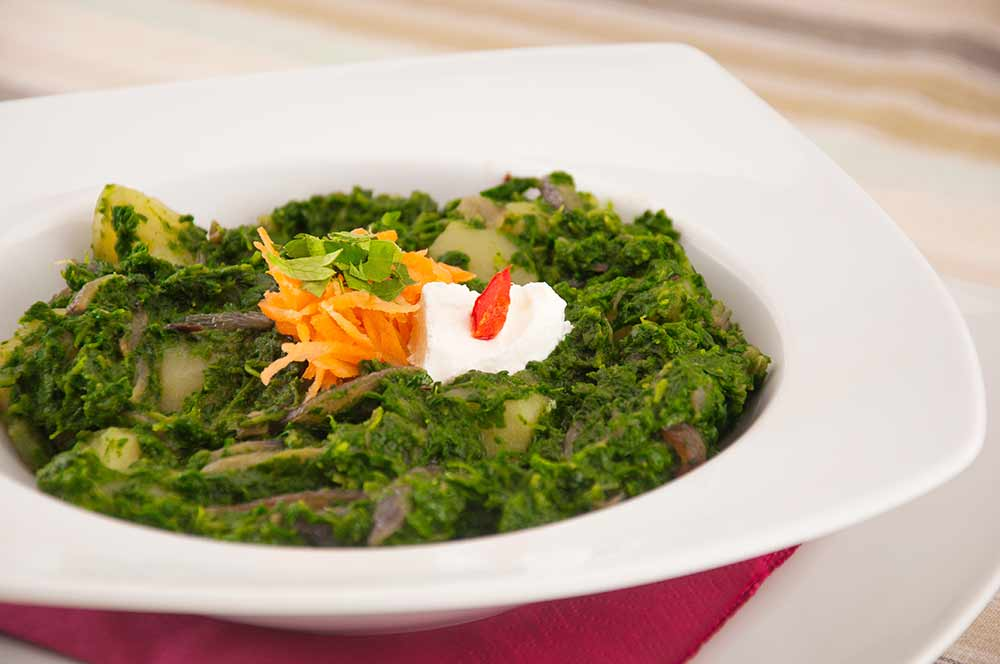 Golden Spinach and Sweet Potato Saute