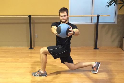 Rotate with a Medicine Ball