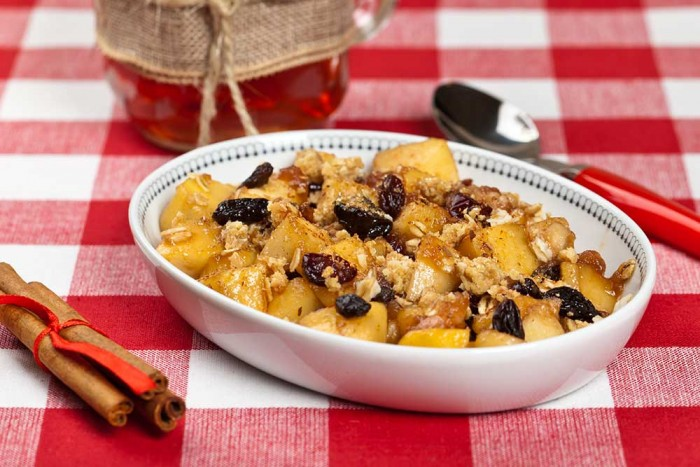10 Minute Fig and Apple Cobbler